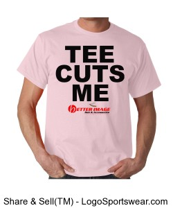 """TEE CUTS ME"" Breast Cancer Awareness Tee Design Zoom"